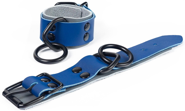 custom kink-blue cuffs-pair
